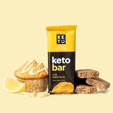 Barritas Keto limón y semillas