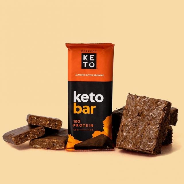 Barritas Keto brownie mantequilla cacahuete