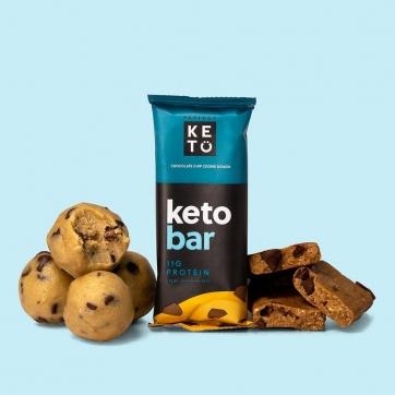Barritas Keto chips de chocolate