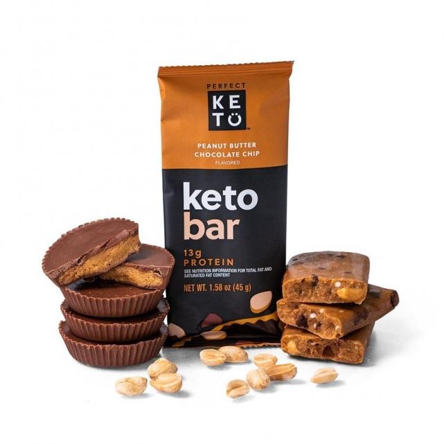 Barritas Keto crema de cacahuete y chocolate