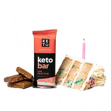Barrita Keto tarta de cumpleaños